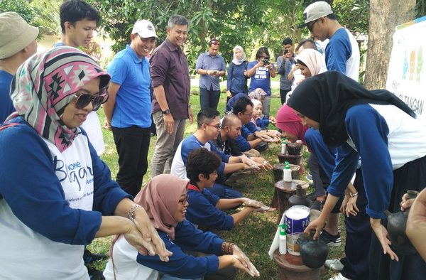 Kampanye Cuci Tangan Digencarkan di Taman Kehati