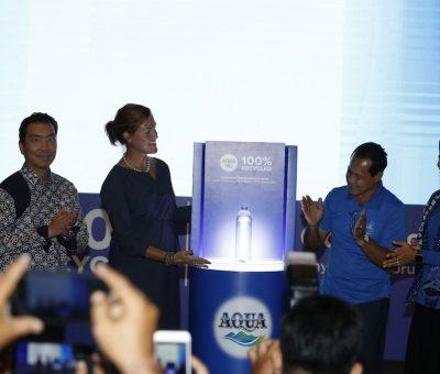 Danone-AQUA Luncurkan Kemasan Botol Plastik 100% Hasil Daur Ulang Pertama di Indonesia