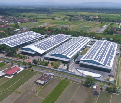 Keren, Atap Pabrik Danone-AQUA Klaten Bisa Hasilkan Listrik, Besar Pula