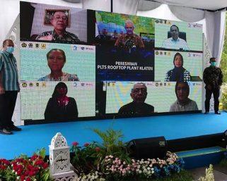 Pabrik Aqua Klaten memiliki PLTS Atap Pertama di Jawa Tengah
