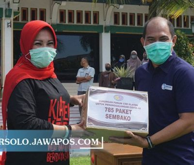 Kolaborasi AQUA Klaten Mencegah Pandemi Covid-19